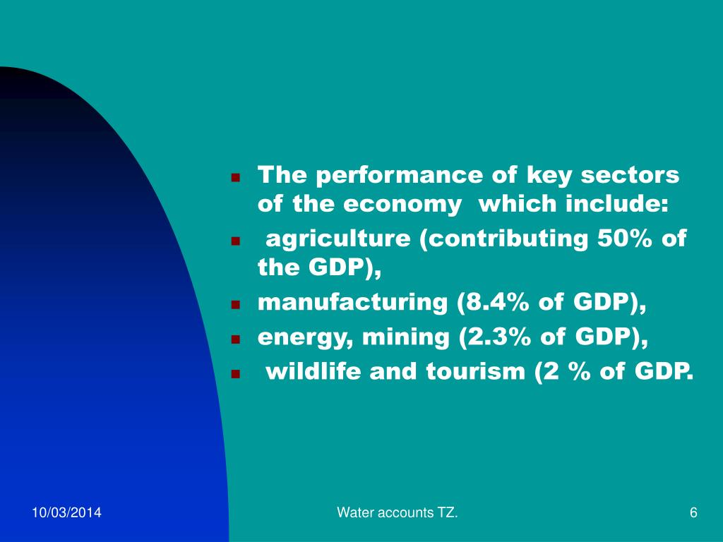 The performance of key sectors of the economy  which include: