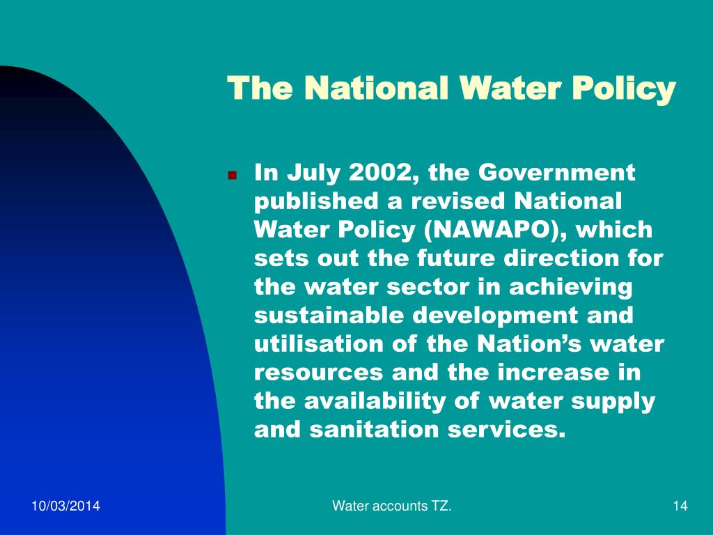 The National Water Policy