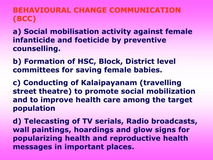 BEHAVIOURAL CHANGE COMMUNICATION (BCC)