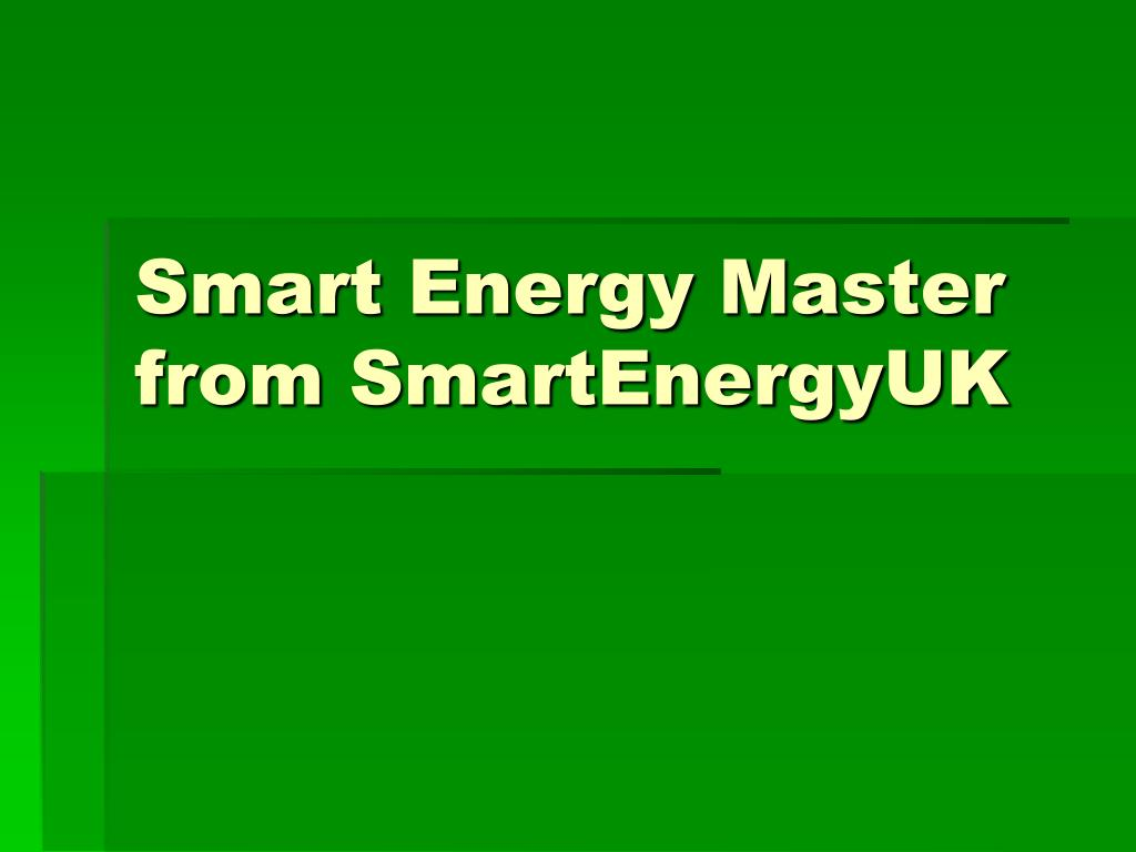 smart energy master from smartenergyuk