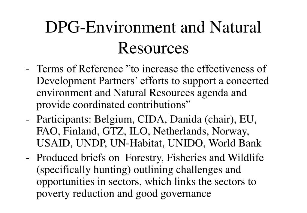 DPG-Environment and Natural Resources