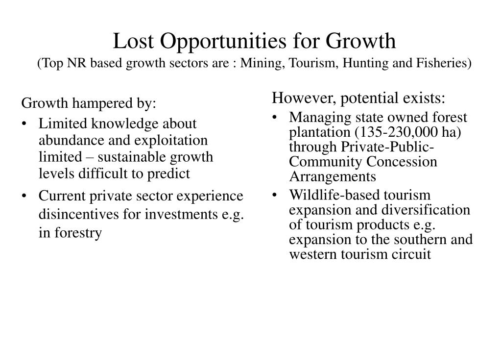 Lost Opportunities for Growth
