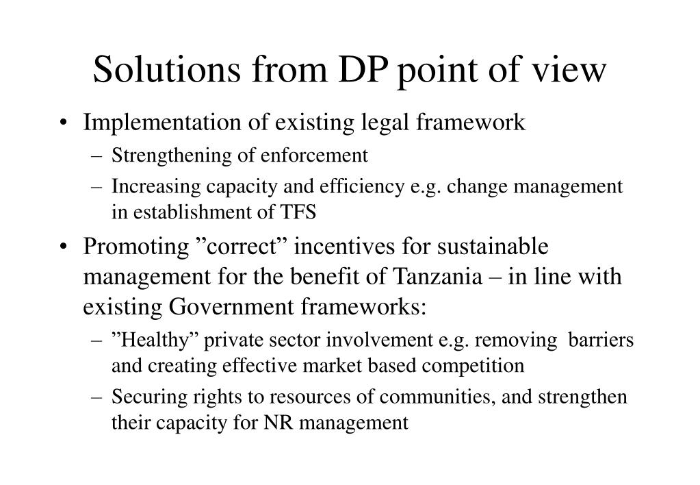 Solutions from DP point of view