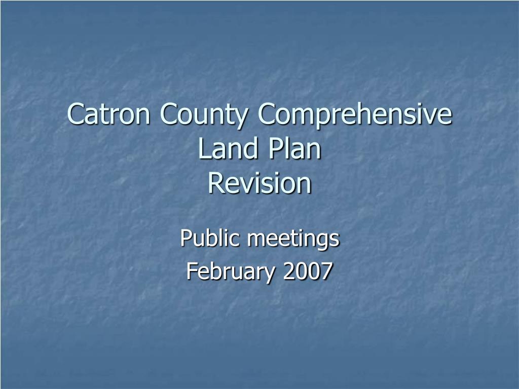 Catron County Comprehensive Land Plan