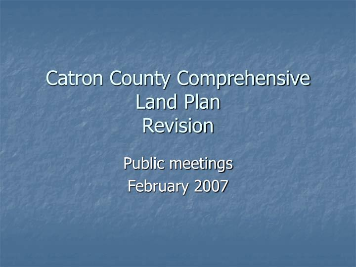 Catron county comprehensive land plan revision