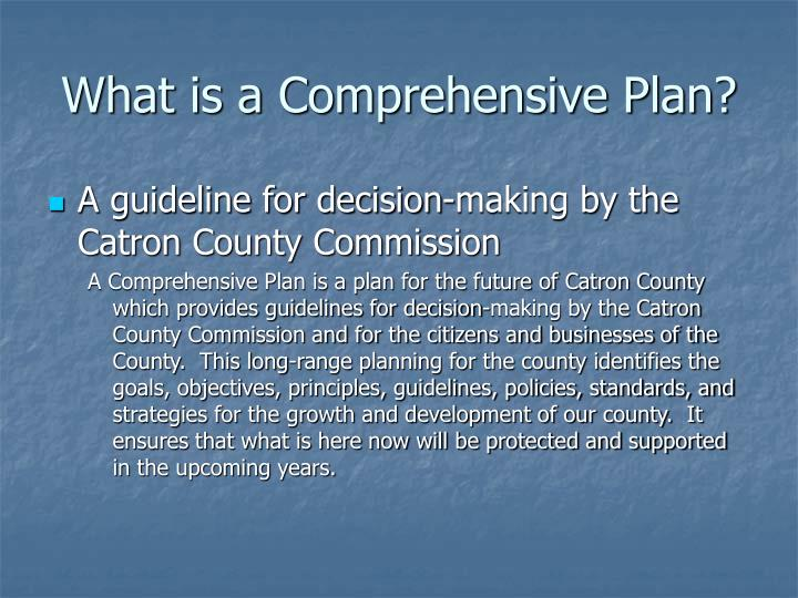 What is a comprehensive plan l.jpg