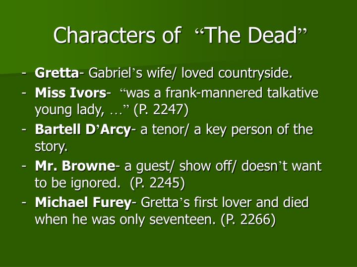 An analysis of gabriel in the dead by james joyce