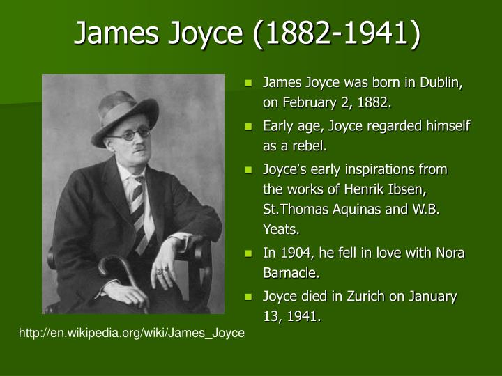 James joyce 1882 1941