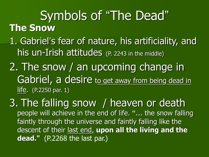 an analysis of life after death in the dead by james joyce The dead is unforgettable, and it launches the reader from this collection of carefully wrought and closely joined stories (the world of dubliners) into the world of joyce's remarkable novels glossary.