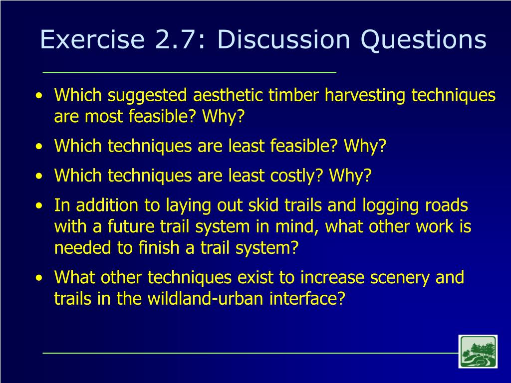 Exercise 2.7: Discussion Questions