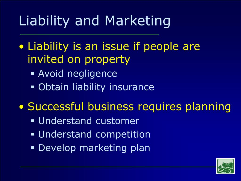 Liability and Marketing
