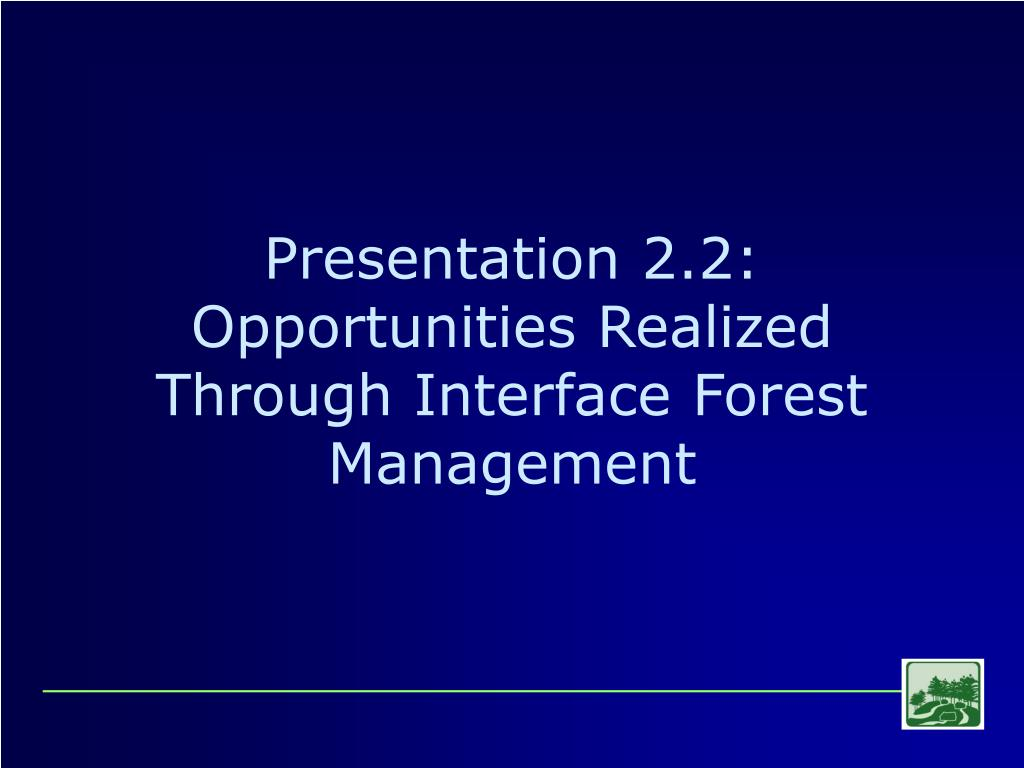 Presentation 2.2: