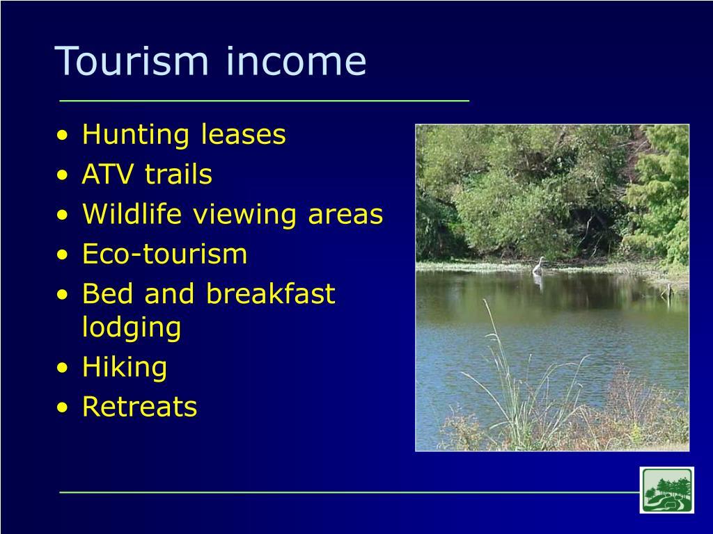 Tourism income