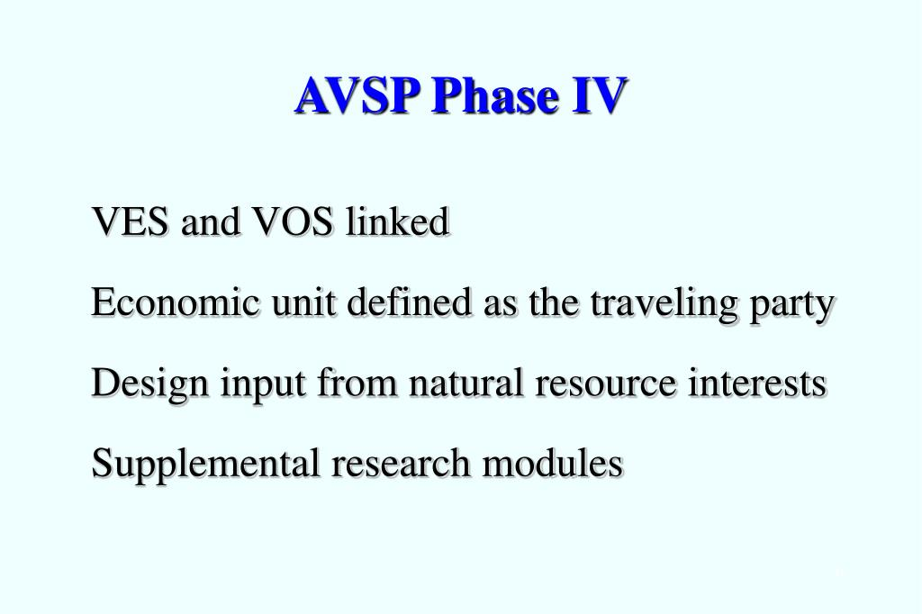 AVSP Phase IV