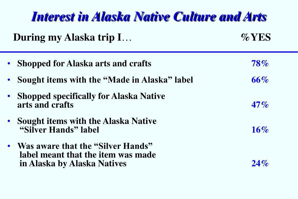 Interest in Alaska Native Culture and Arts
