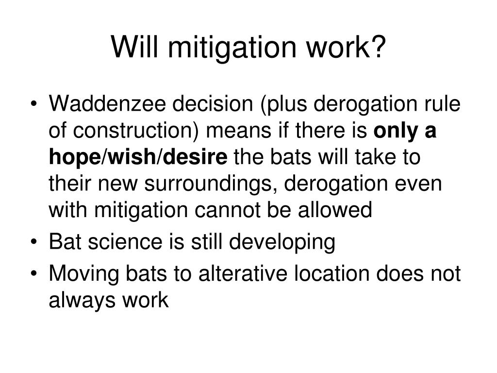 Will mitigation work?