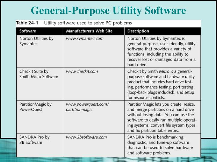 purpose of various software utilities The entire purpose of pc system utility software is to improve your computer's performance we tested each product thoroughly on our test pc, just like we've been doing for over 13 years the data we gathered serves as the foundation for our reviews and all the information we share here.