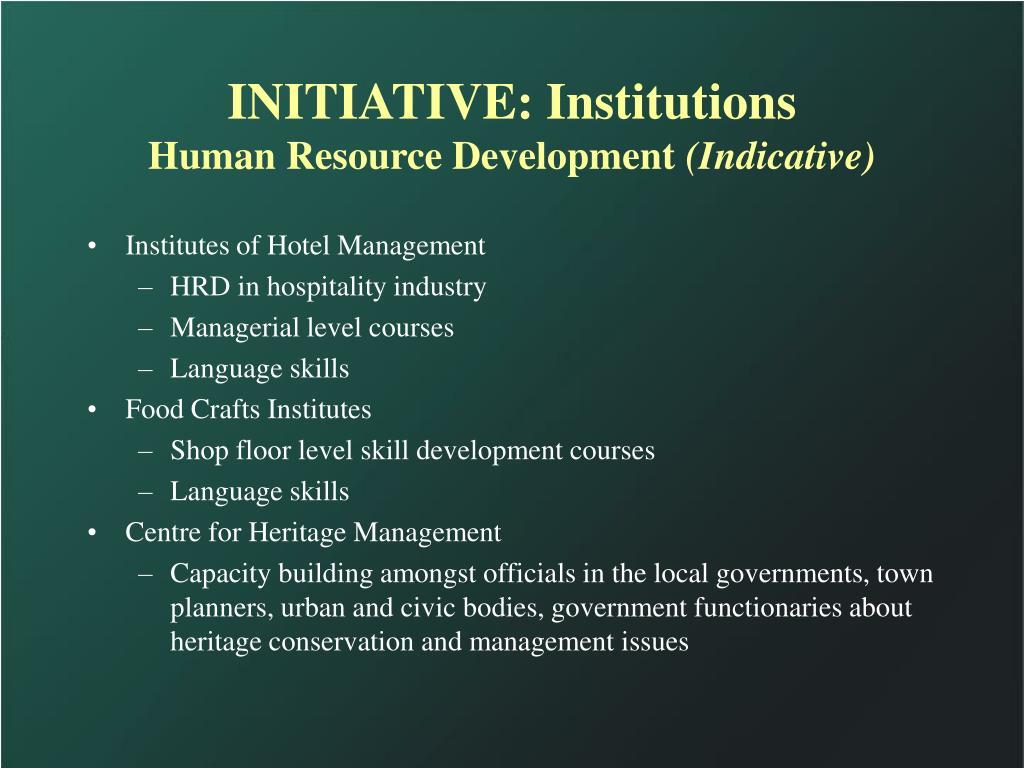INITIATIVE: Institutions
