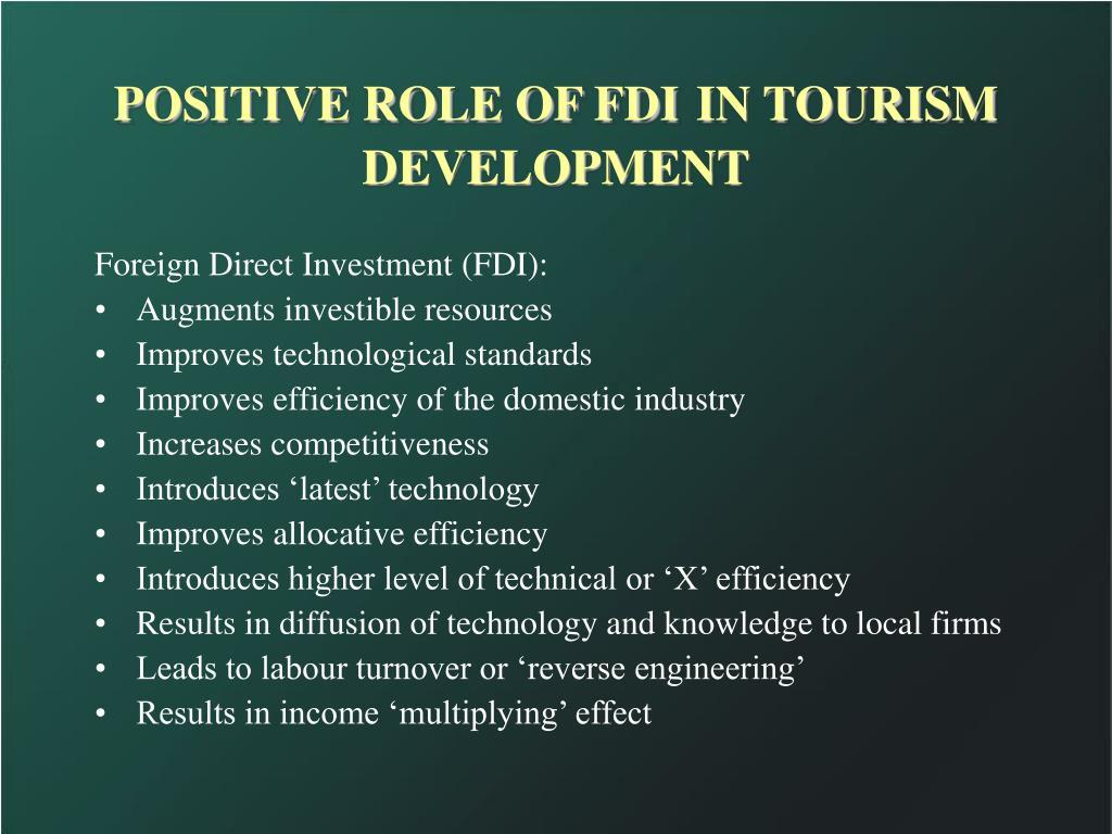 POSITIVE ROLE OF FDI