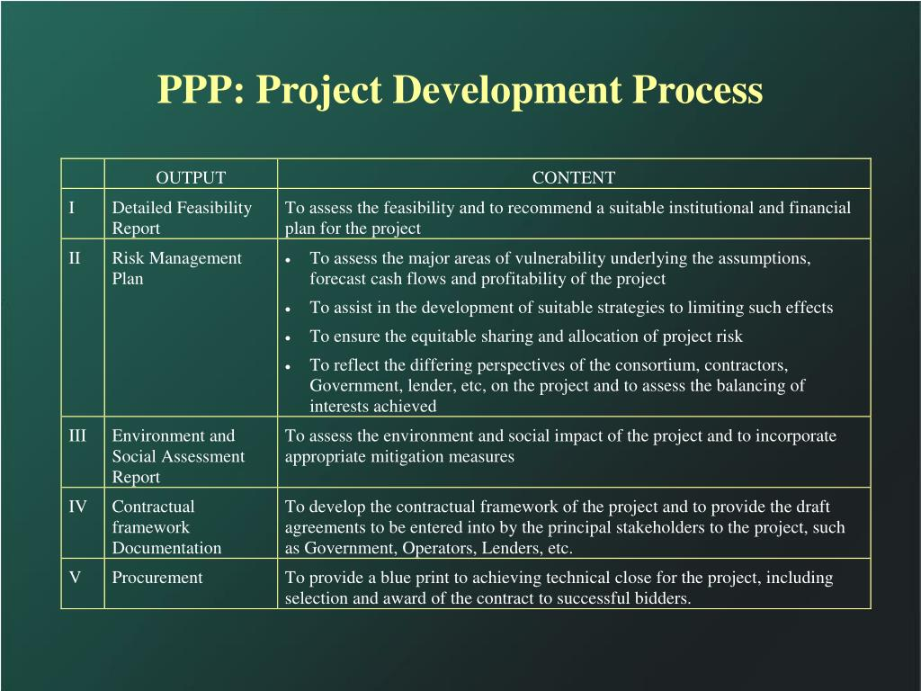 PPP: Project Development Process