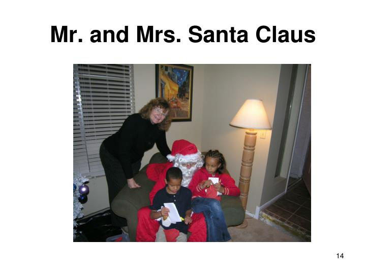 Mr. and Mrs. Santa Claus