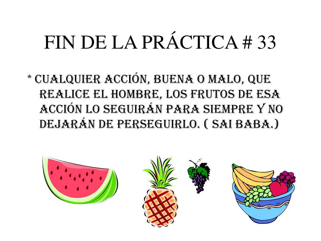 FIN DE LA PRÁCTICA # 33