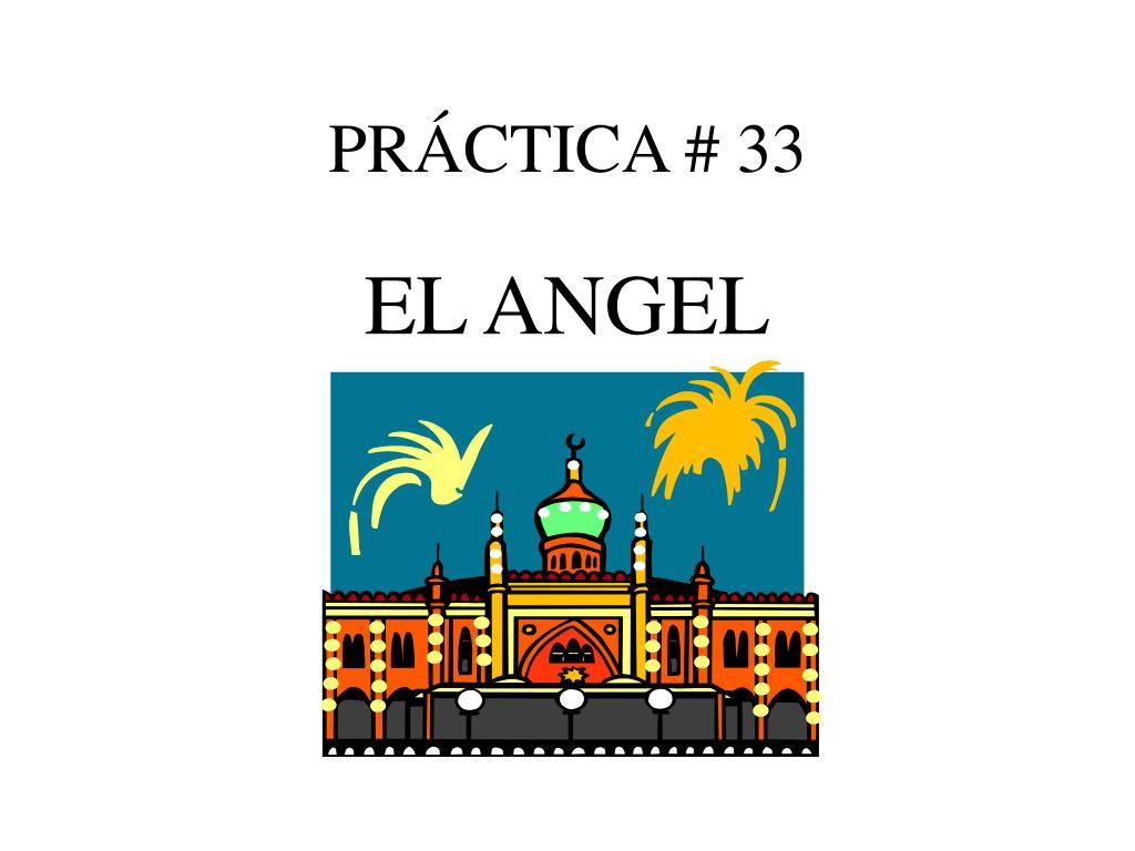 PRÁCTICA # 33