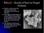 pol and result of pact on target nations