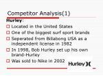 competitor analysis 1