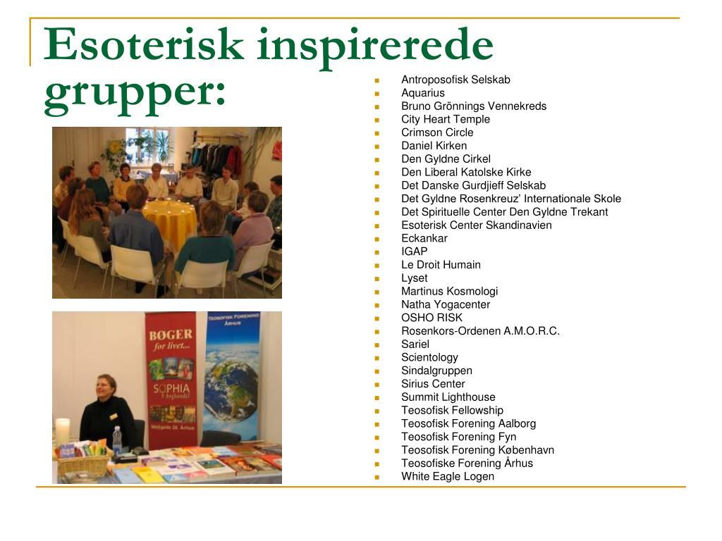 Esoterisk inspirerede grupper: