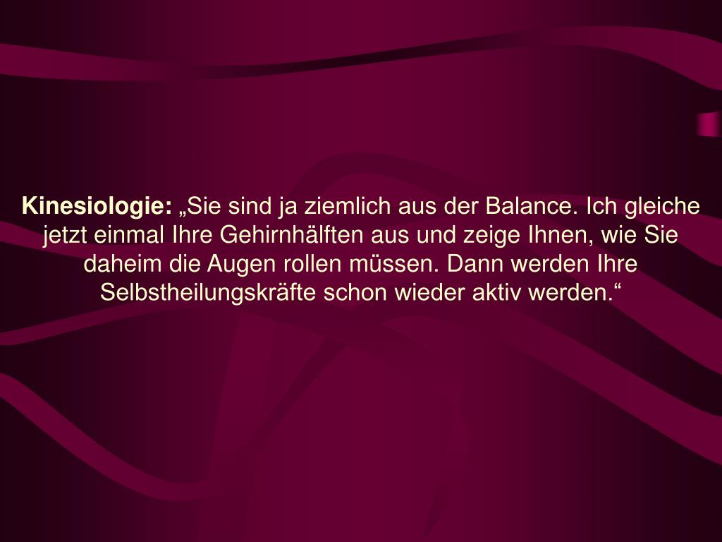 Kinesiologie:
