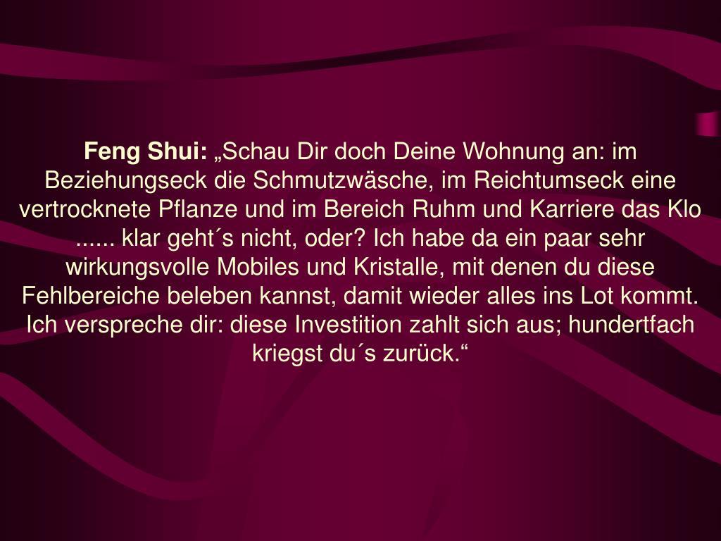 Feng Shui: