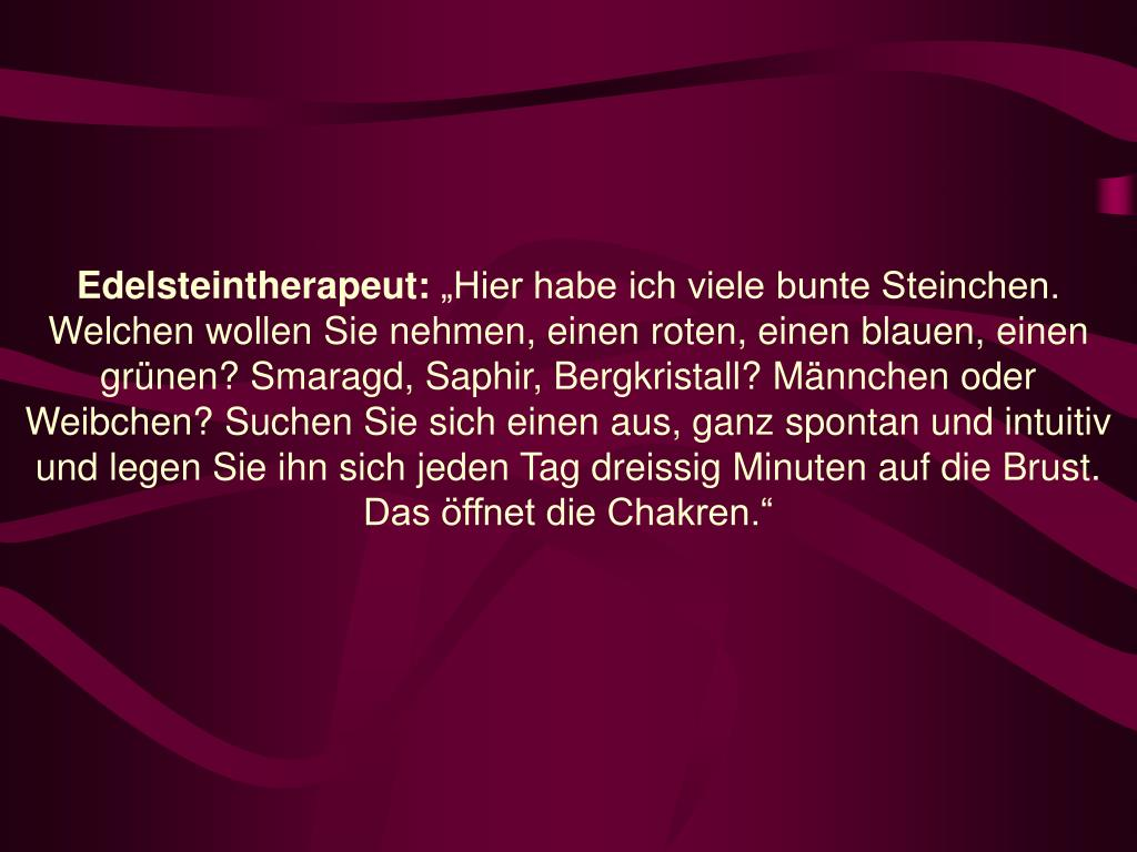 Edelsteintherapeut: