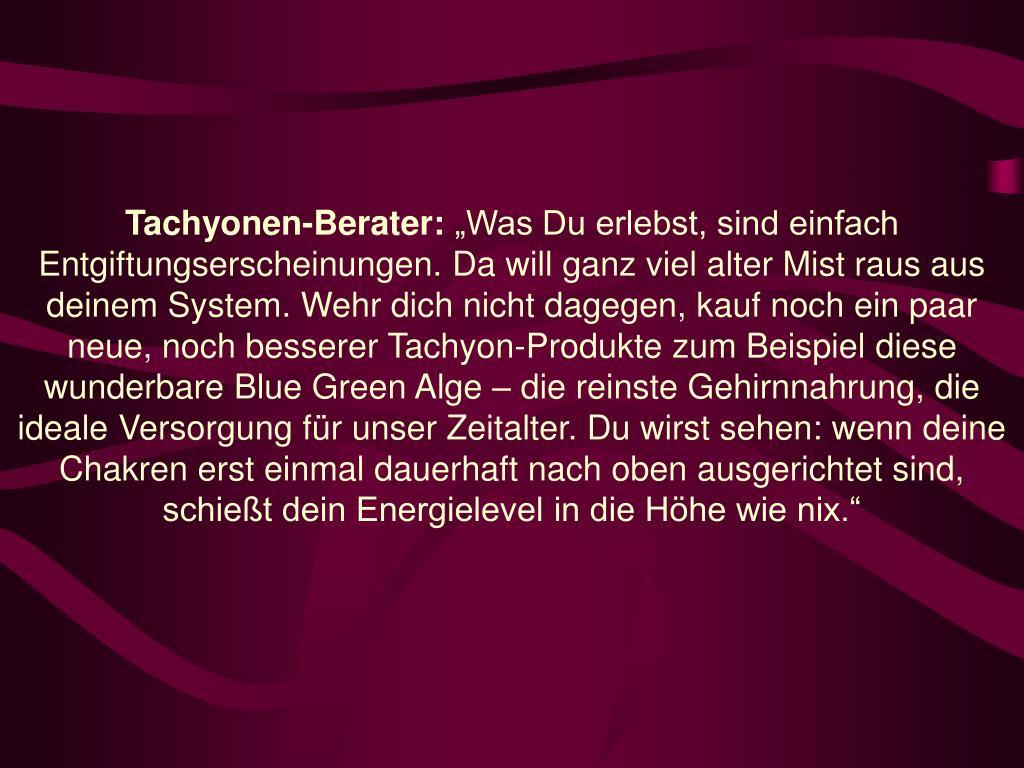 Tachyonen-Berater: