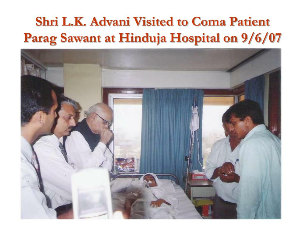 Shri L.K. Advani Visited to Coma Patient Parag Sawant at Hinduja Hospital on 9/6/07