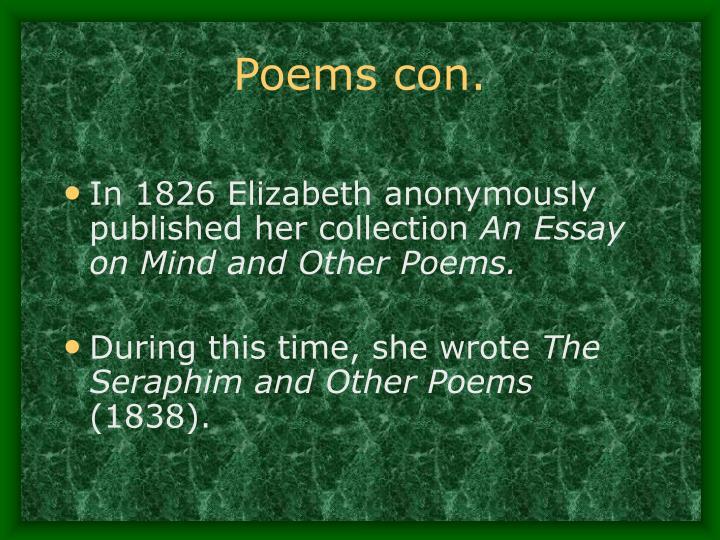 Elizabeth barrett browning essay