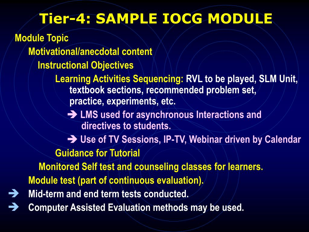 Tier-4: SAMPLE IOCG MODULE