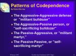 patterns of codependence by robert burney