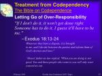 treatment from codependency the bible on codependence