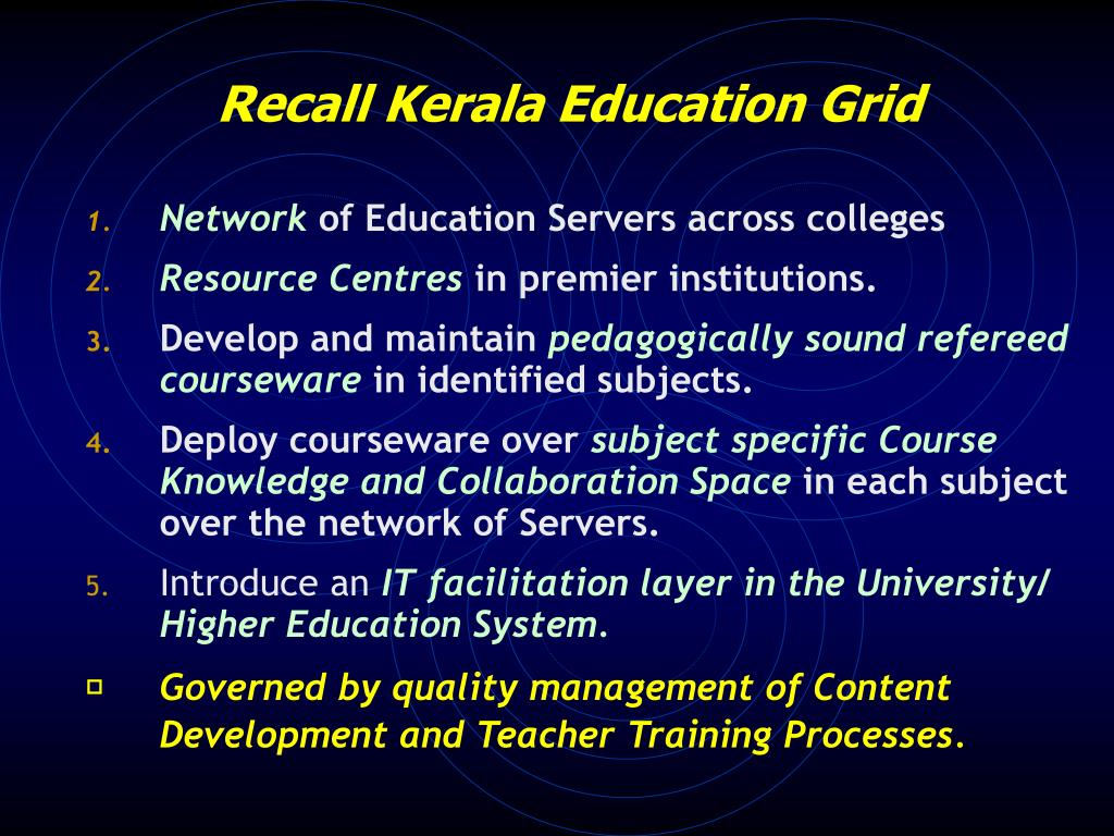 Recall Kerala Education Grid