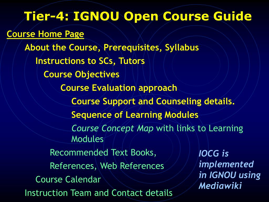 Tier-4: IGNOU Open Course Guide