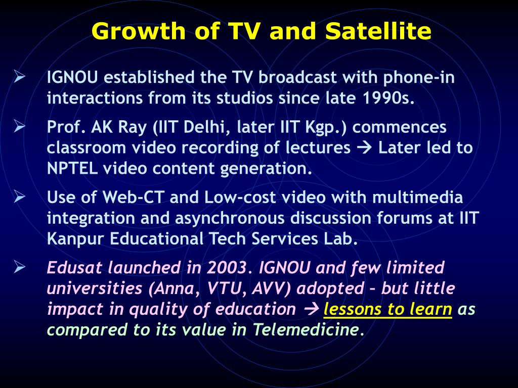 Growth of TV and Satellite