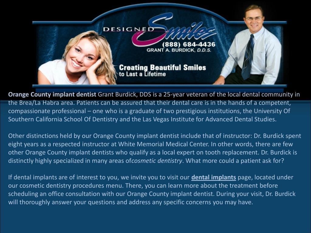 Orange County implant dentist
