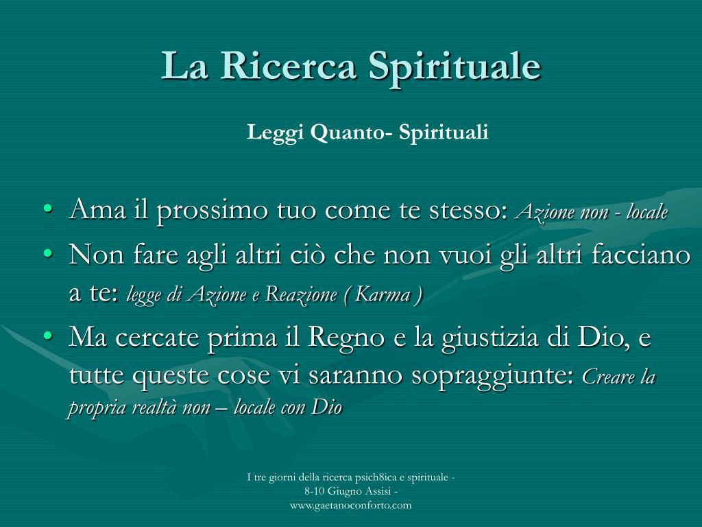 La Ricerca Spirituale