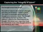 capturing the integrity of intent