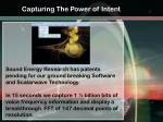 capturing the power of intent