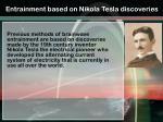 entrainment based on nikola tesla discoveries