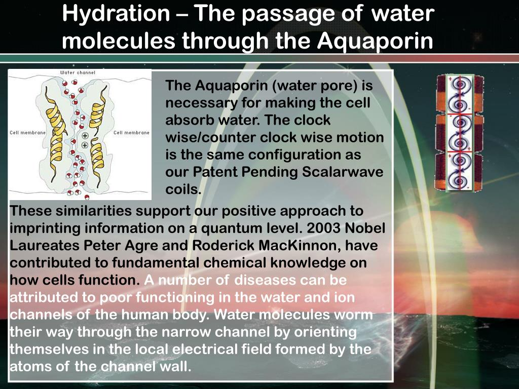 Hydration – The passage of water molecules through the Aquaporin