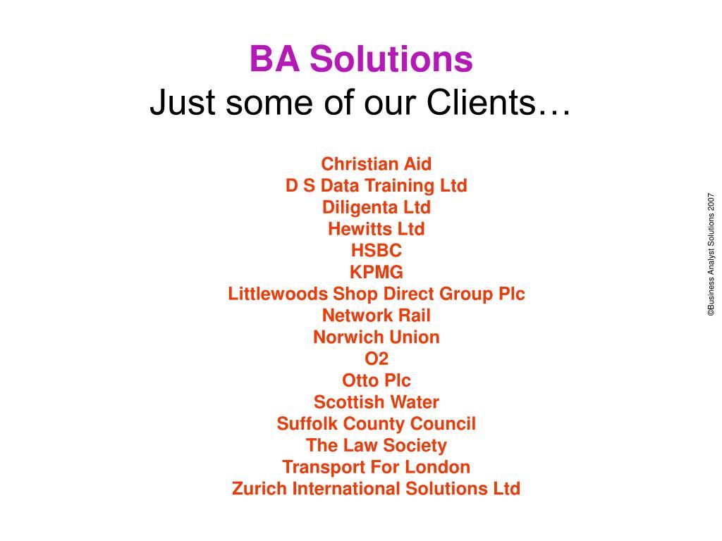 BA Solutions