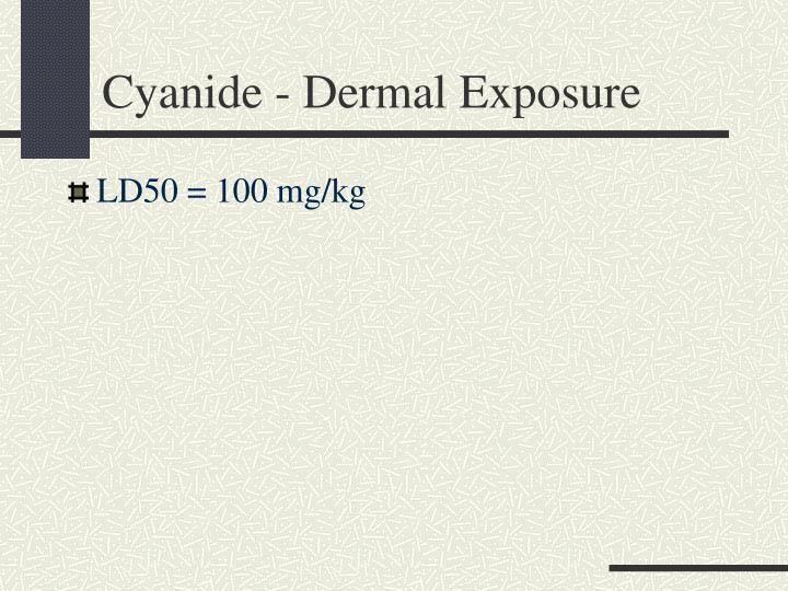 Cyanide - Dermal Exposure